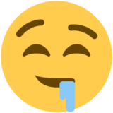 Drooling Face on Twitter Twemoji 2.5