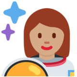 Woman Astronaut: Medium Skin Tone on Twitter Twemoji 2.5