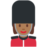 Woman Guard: Medium-Dark Skin Tone on Twitter Twemoji 2.5