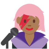 Woman Singer: Medium-Dark Skin Tone on Twitter Twemoji 2.5