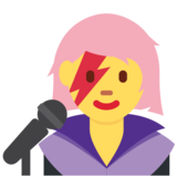 Woman Singer on Twitter Twemoji 2.5