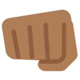 Oncoming Fist: Medium-Dark Skin Tone on Twitter Twemoji 2.5