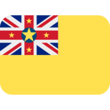 Flag: Niue on Twitter Twemoji 2.5