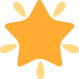 Glowing Star on Twitter Twemoji 2.5