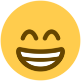 Beaming Face With Smiling Eyes on Twitter Twemoji 2.5