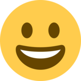 Grinning Face on Twitter Twemoji 2.5