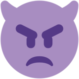 Angry Face with Horns on Twitter Twemoji 2.5