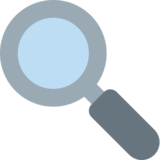 Magnifying Glass Tilted Left on Twitter Twemoji 2.5