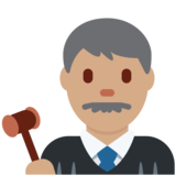 Man Judge: Medium Skin Tone on Twitter Twemoji 2.5
