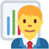 Man Office Worker on Twitter Twemoji 2.5