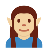 Man Elf: Medium-Light Skin Tone on Twitter Twemoji 2.5
