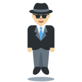 Person in Suit Levitating: Medium-Light Skin Tone on Twitter Twemoji 2.5