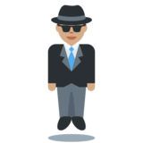 Person in Suit Levitating: Medium Skin Tone on Twitter Twemoji 2.5