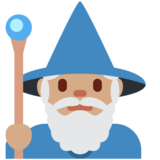 Man Mage: Medium Skin Tone on Twitter Twemoji 2.5