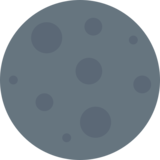 New Moon on Twitter Twemoji 2.5
