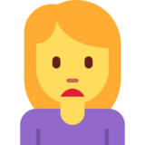 Person Frowning on Twitter Twemoji 2.5