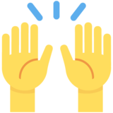 Raising Hands on Twitter Twemoji 2.5