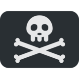 Pirate Flag on Twitter Twemoji 2.5