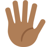 Hand with Fingers Splayed: Medium-Dark Skin Tone on Twitter Twemoji 2.5