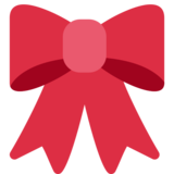Ribbon on Twitter Twemoji 2.5