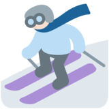 Skier, Type-1-2 on Twitter Twemoji 2.5