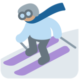 Skier, Type-4 on Twitter Twemoji 2.5