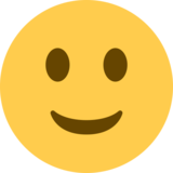 Slightly Smiling Face on Twitter Twemoji 2.5