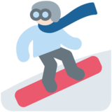 Snowboarder: Light Skin Tone on Twitter Twemoji 2.5