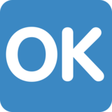 OK Button on Twitter Twemoji 2.5