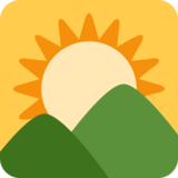 Sunrise Over Mountains on Twitter Twemoji 2.5