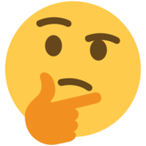 Thinking Face on Twitter Twemoji 2.5