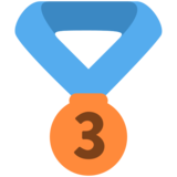 3rd Place Medal on Twitter Twemoji 2.5