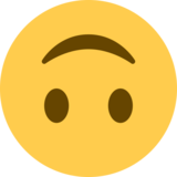 Upside-Down Face on Twitter Twemoji 2.5