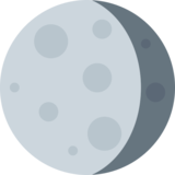 Waning Gibbous Moon on Twitter Twemoji 2.5