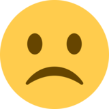 Frowning Face on Twitter Twemoji 2.5
