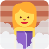 Woman in Steamy Room on Twitter Twemoji 2.5