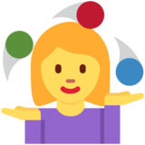 Woman Juggling on Twitter Twemoji 2.5