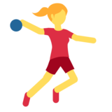 Woman Playing Handball on Twitter Twemoji 2.5