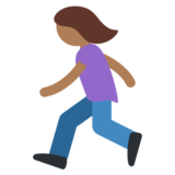 Woman Running: Medium-Dark Skin Tone on Twitter Twemoji 2.5