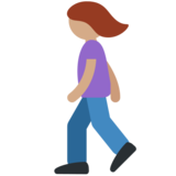 Woman Walking: Medium Skin Tone on Twitter Twemoji 2.5