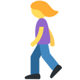 Woman Walking on Twitter Twemoji 2.5