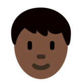 Person: Dark Skin Tone on Twitter Twemoji 2.6
