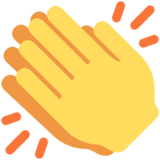 Clapping Hands on Twitter Twemoji 2.6