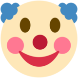 Clown Face on Twitter Twemoji 2.6