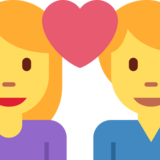 Couple With Heart: Woman, Man on Twitter Twemoji 2.6