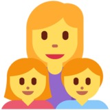 Family: Woman, Girl, Boy on Twitter Twemoji 2.6