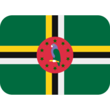 Flag: Dominica on Twitter Twemoji 2.6