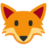 Fox Face on Twitter Twemoji 2.6