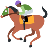 Horse Racing: Dark Skin Tone on Twitter Twemoji 2.6