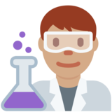 Man Scientist: Medium Skin Tone on Twitter Twemoji 2.6